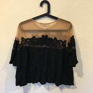 For Love And Lemons Tops - For Love & Lemons black lace button down top